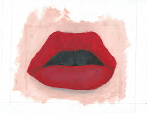 Lips Oil Painting