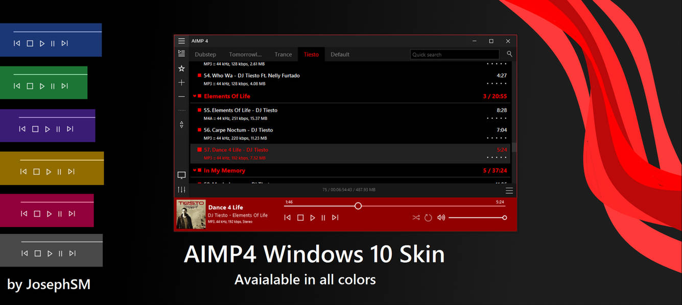 Download skin aimp 4 free | 70 Best AIMP Player Skins For