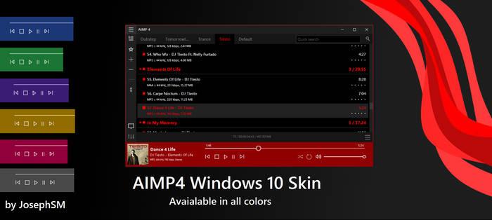 AIMP4 Windows 10 Skin