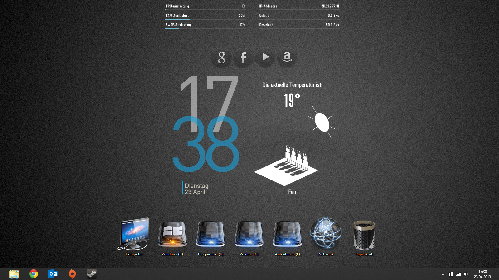 Image gallery simple rainmeter for Deviantart rainmeter