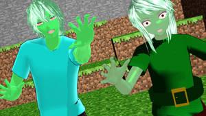 {MMD MODEL DOWNLOAD} Human Minecraft Zombies by TwilightMistressAsh