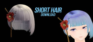 Short hair with flower {download}