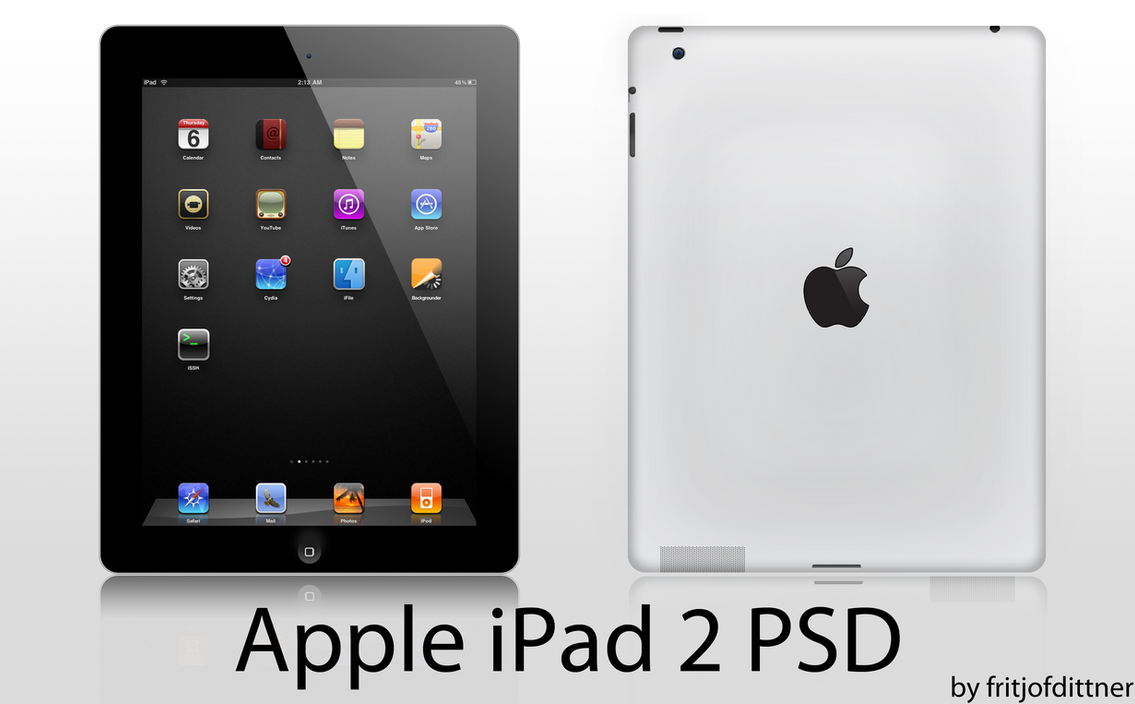 Apple iPad 2 PSD HighRes by fritjofdittner on DeviantArt