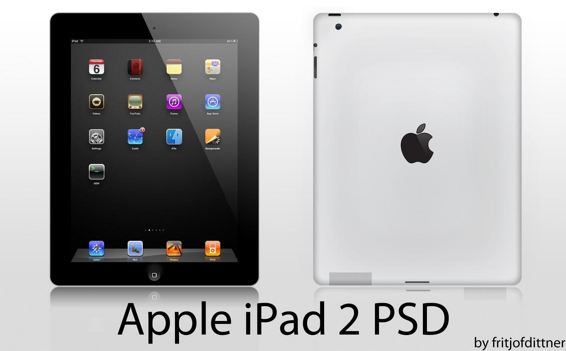 Apple iPad 2 PSD HighRes by fritjofdittner on DeviantArt