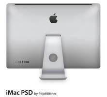 Apple iMac 27' Back PSD by fritjofdittner