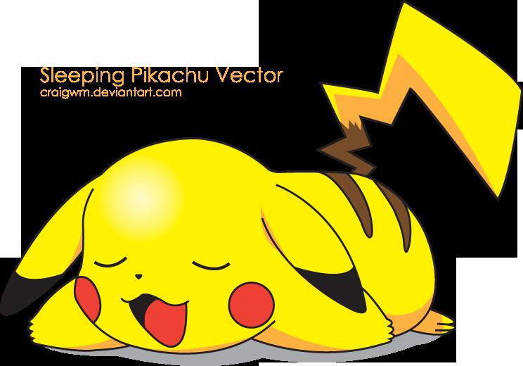 Sleeping Pikachu Vector by CraigWM