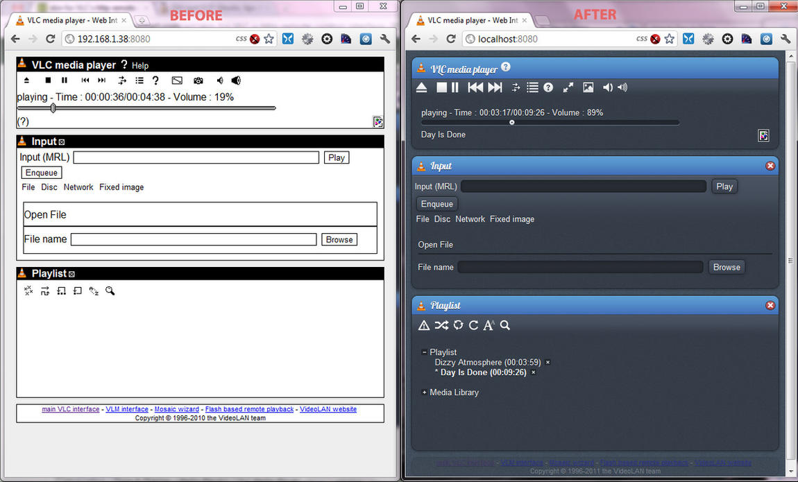 Adjust lua web interface to enqueue YouTube links - The