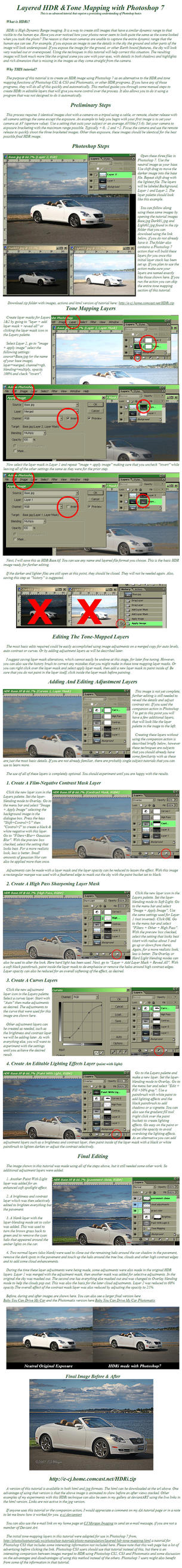 Photoshop 7 HDRi Tutorial  V.2 by e-CJ