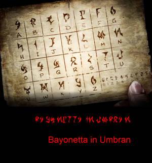 Bayonetta UmbranWitch Font