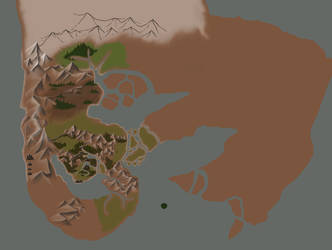 Gonvas World Map in progress by Agro-Andersen