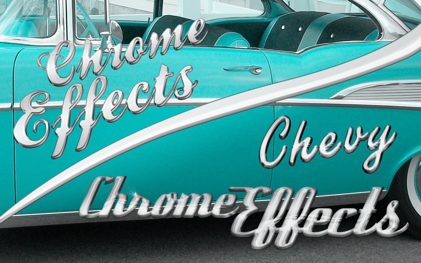 Chrome Effect PSD and ASL by xxdigipxx