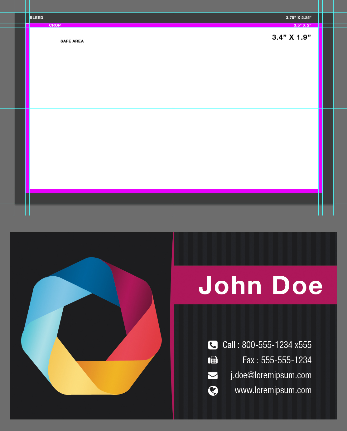 Blank Business Card Template Psd By