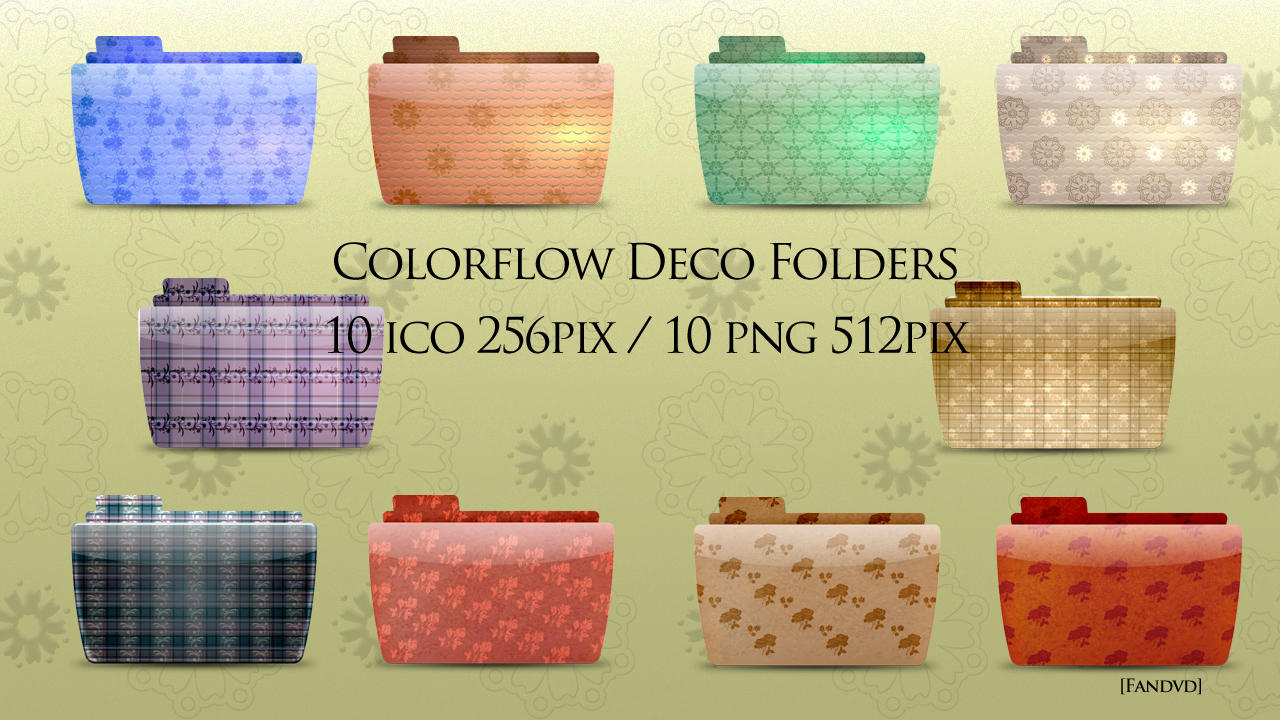 Colorflow Deco Folder icons by fandvd