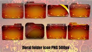 Floral Folder Icon 005