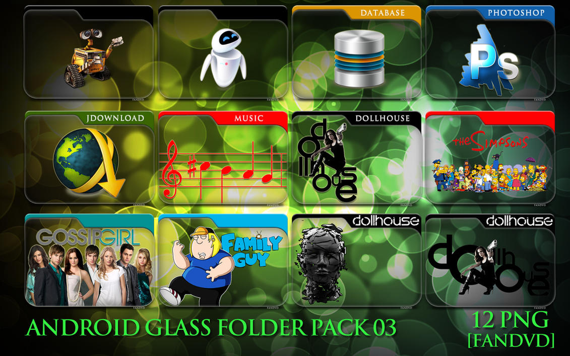 Android Folder Icon Png Android Glass Folder Icons 03