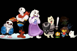 Undertale Characters LineUp For 1st Yr Anniversary