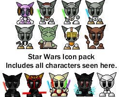 Star Wars Fella Icons 1 by catluvr2