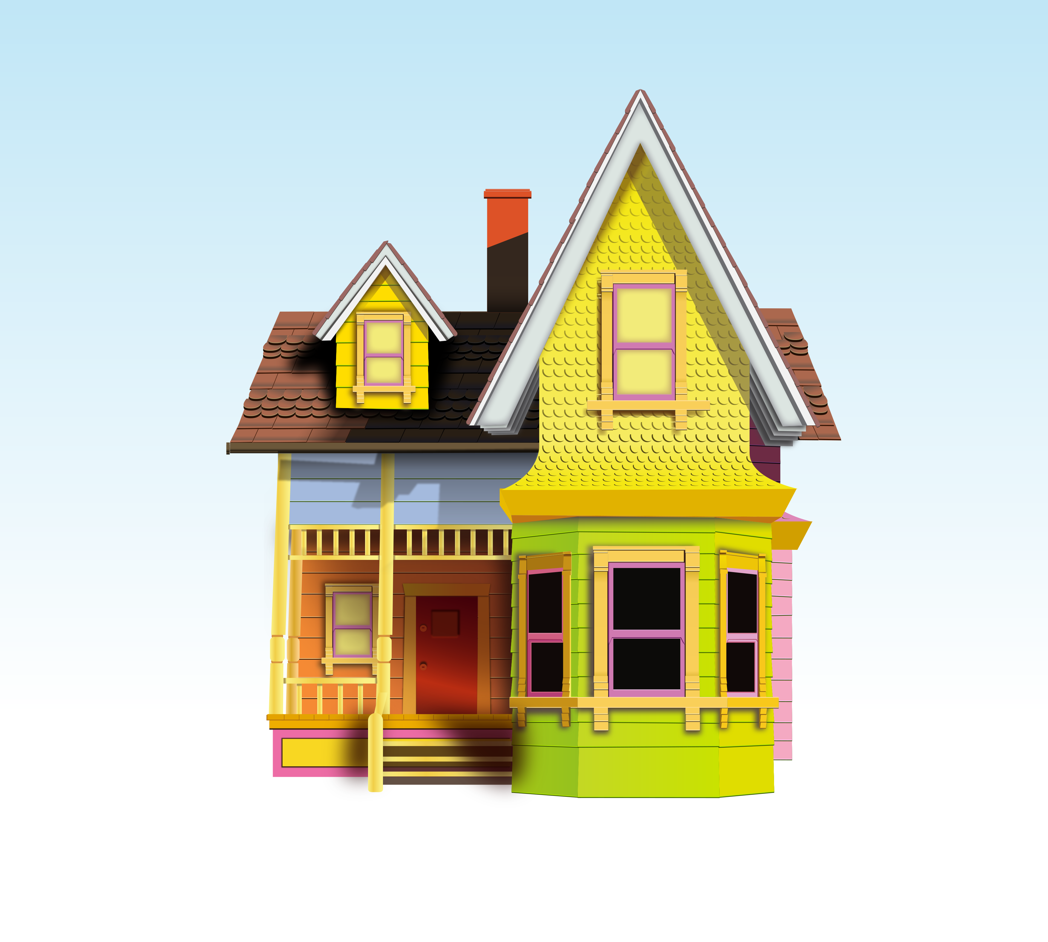 Up house vectored by skratakh on deviantart for Model house movie