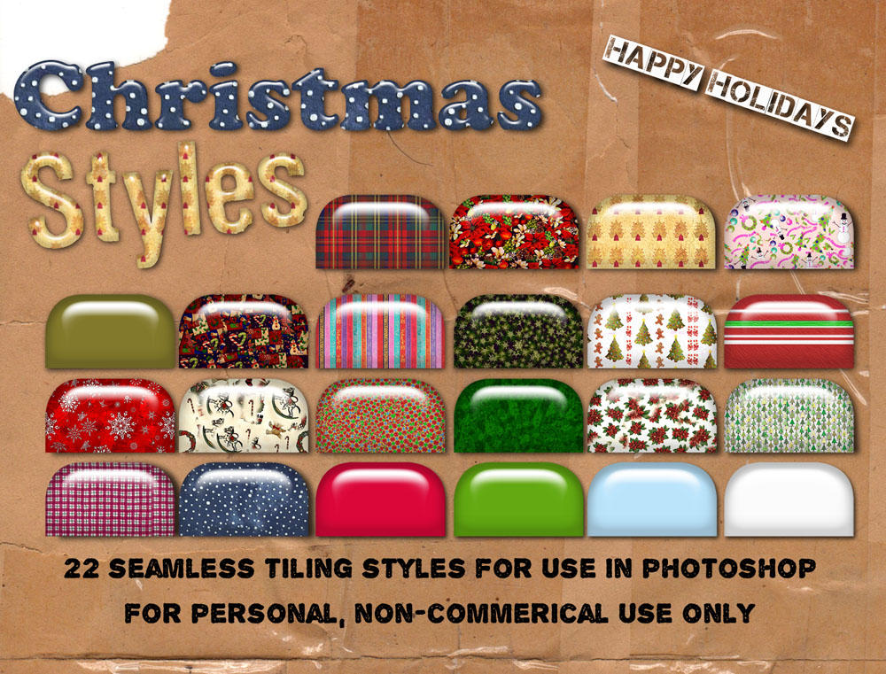 Christmas Photoshop Styles by HGGraphicDesigns