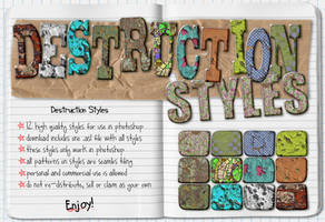 Destruction Photoshop Styles by HGGraphicDesigns