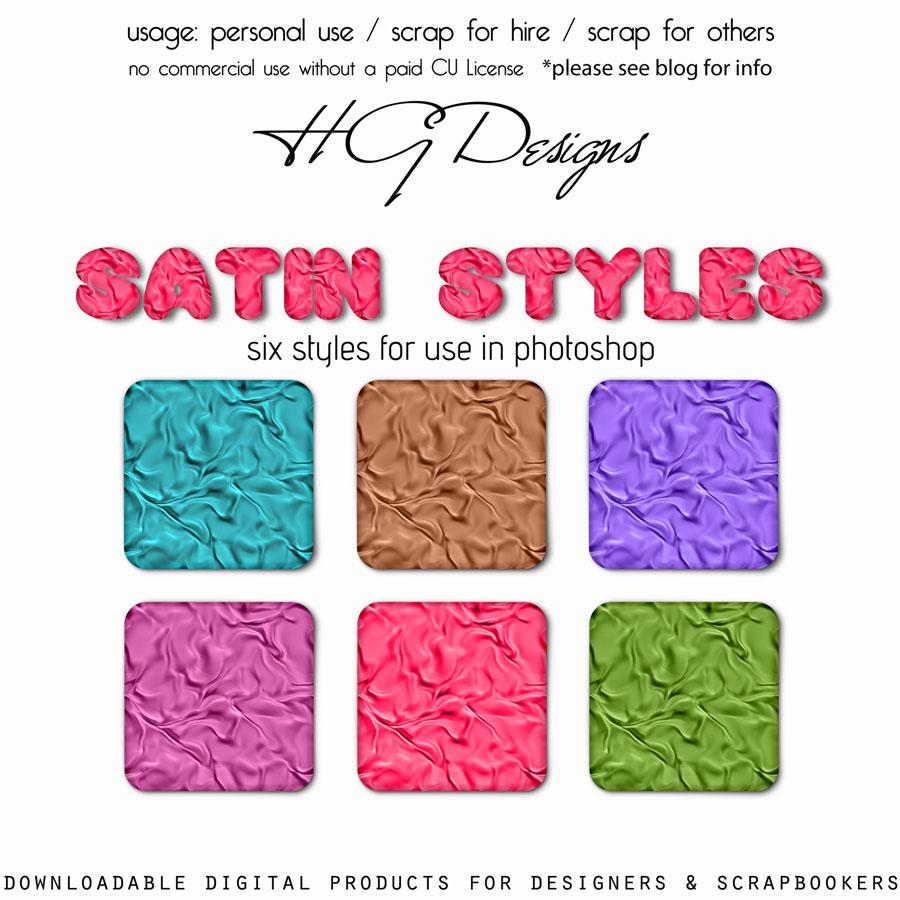 Satin Photoshop Styles
