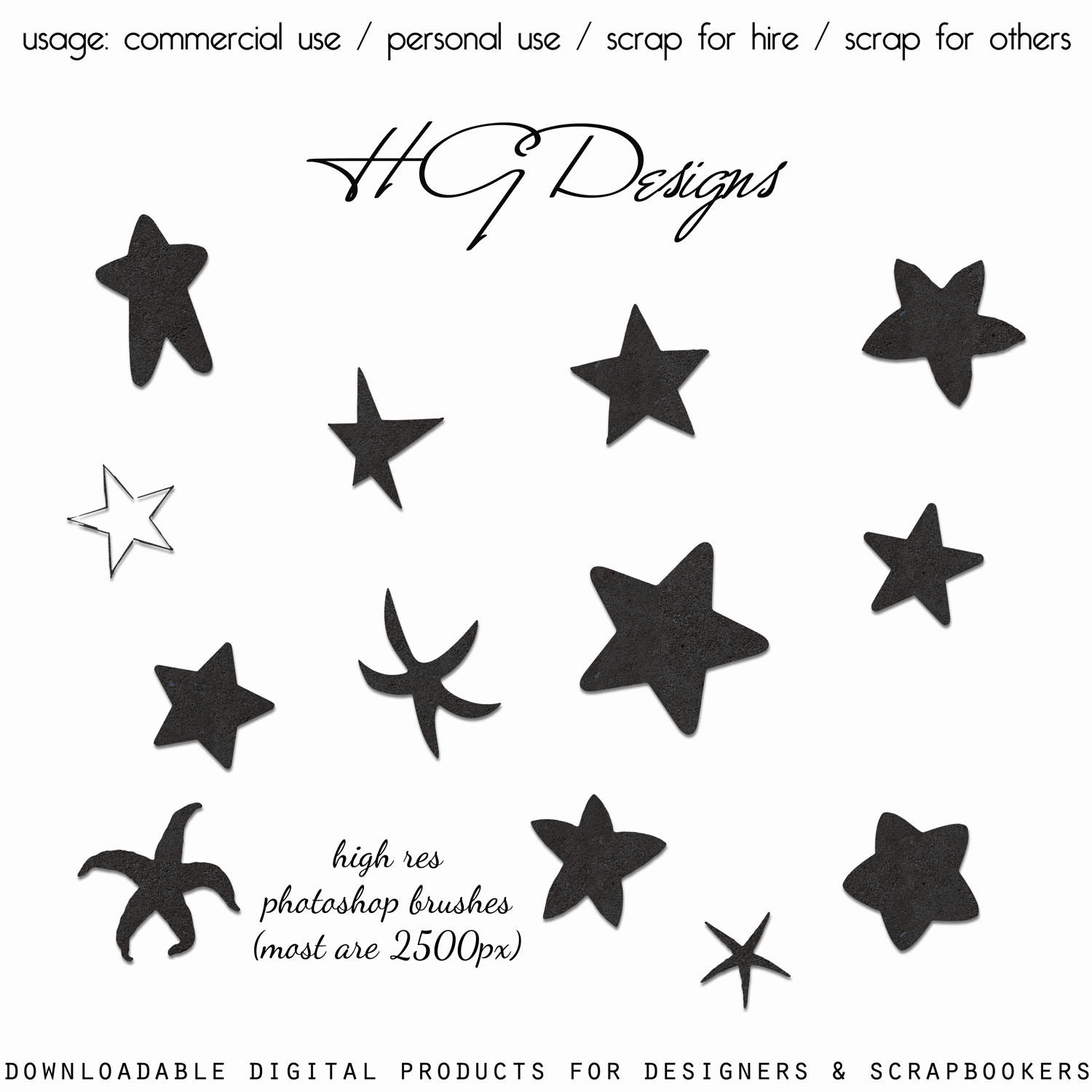 Photoshop Star Brushes by HGGraphicDesigns on DeviantArt