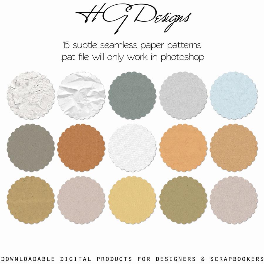 15 Subtle Paper Patterns