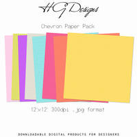 Chevron Paper Pack by HGGraphicDesigns