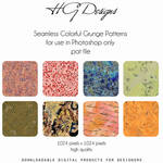 Colorful Grunge Seamless Patterns