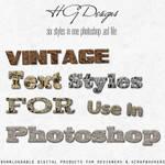 Vintage Text Photoshop Styles
