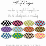 Seamless Zig Zag Photoshop Patterns