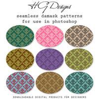 Seamless Damask Photoshop Patterns