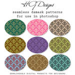 Seamless Damask Photoshop Patterns