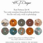 Rust Photoshop Patterns Set #1