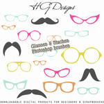 PS Brushes: Glasses And Staches