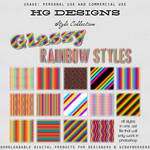 Glassy Rainbow Photoshop Styles
