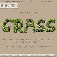 PS Style: GRASS by HGGraphicDesigns