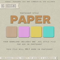 PS Style: PAPER by HGGraphicDesigns