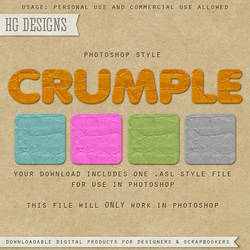 PS Style: CRUMPLE by HGGraphicDesigns