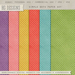 Simple Dots Paper Set by HGGraphicDesigns
