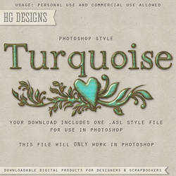 PS Style: TURQUOISE by HGGraphicDesigns