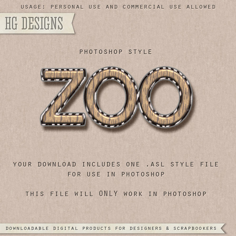 PS Style: Zoo by HGGraphicDesigns
