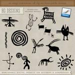 PS Brushes: Petroglyphs
