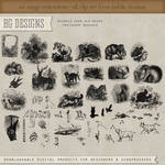 PS Brushes: Animals From Old Books