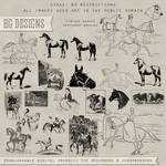 PS Brushes: Vintage Horses