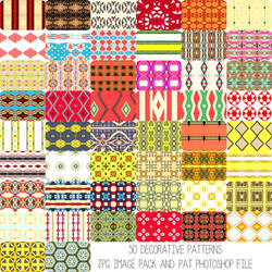 Deco Patterns Set 1 by HGGraphicDesigns