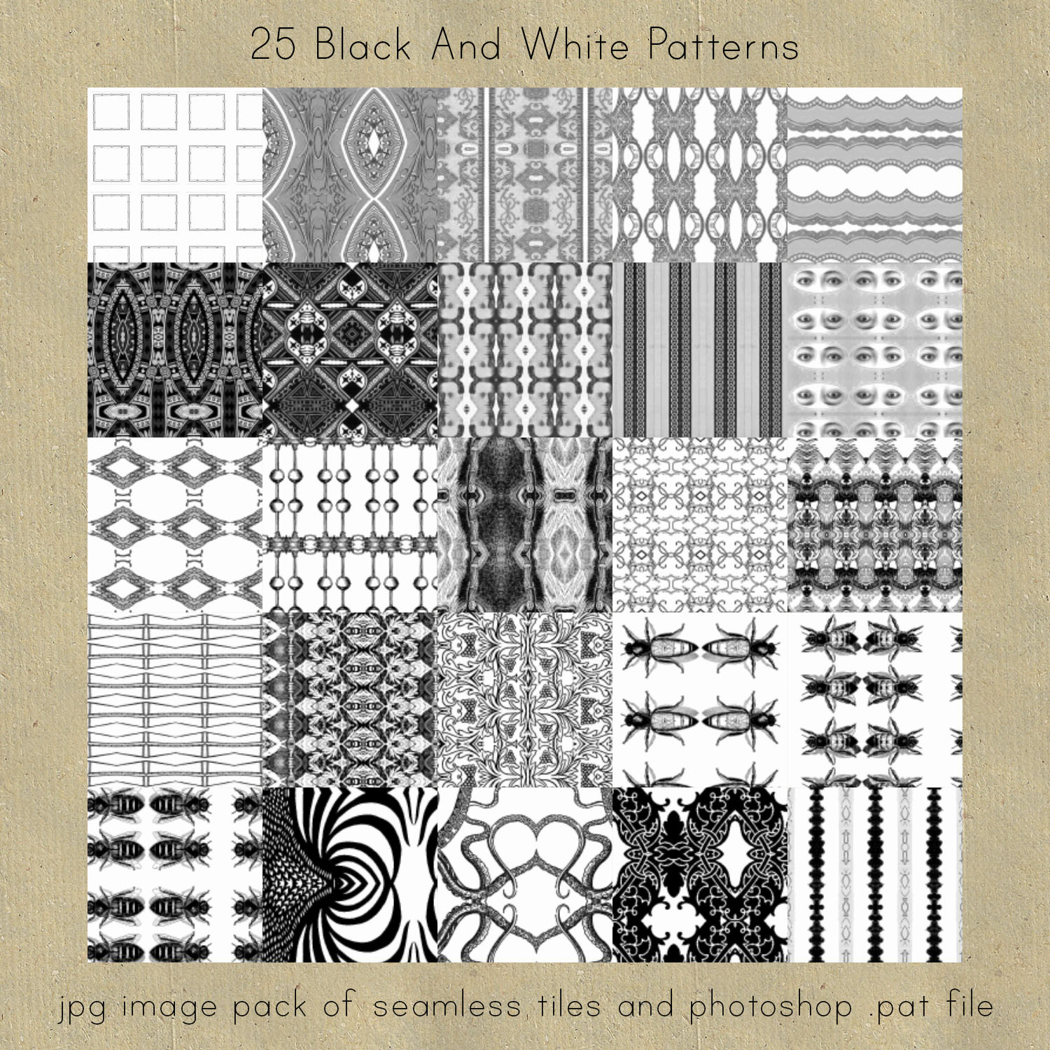 Black And White Seamless Patterns by HGGraphicDesigns