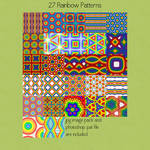 Rainbow Seamless Patterns