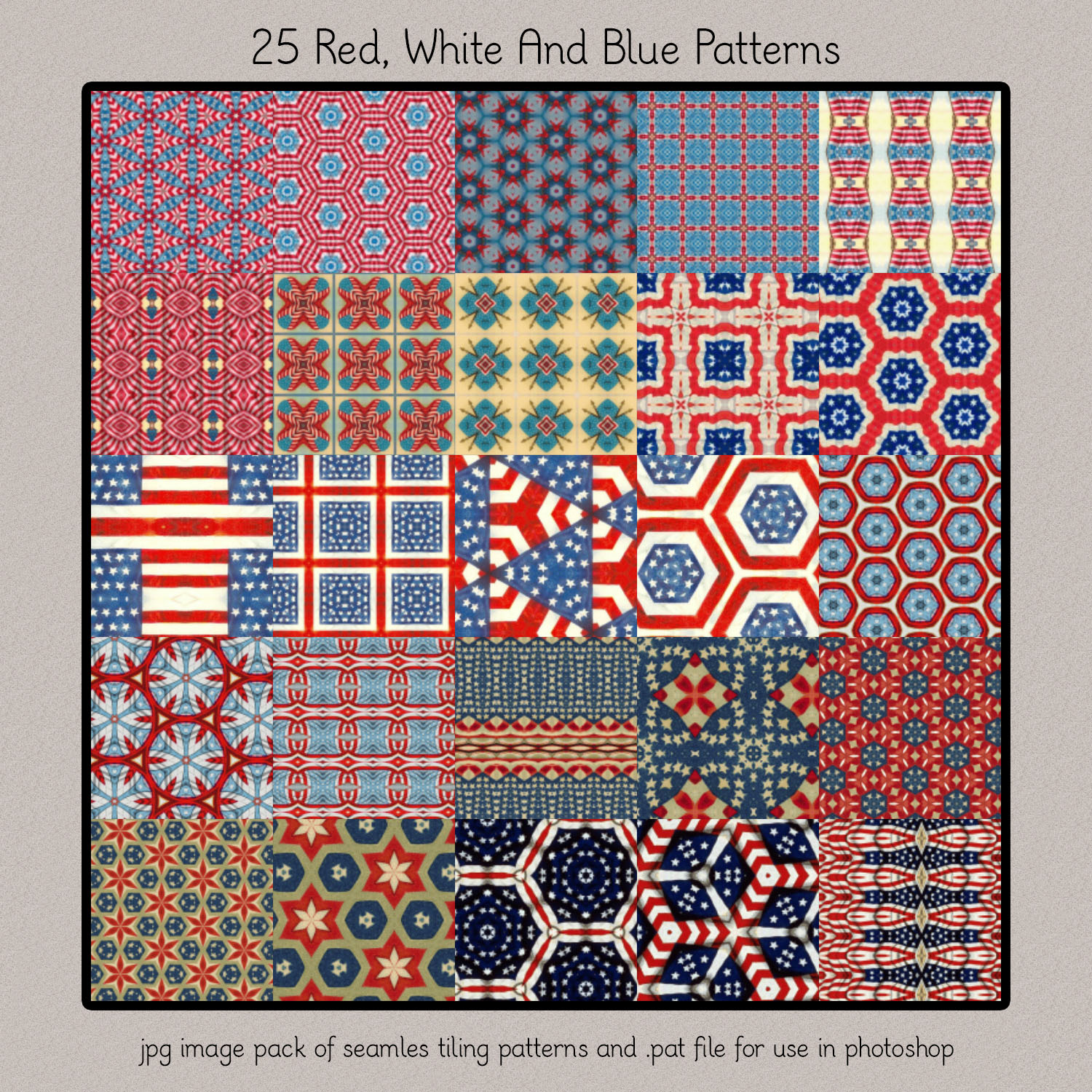 Red White And Blue Patterns