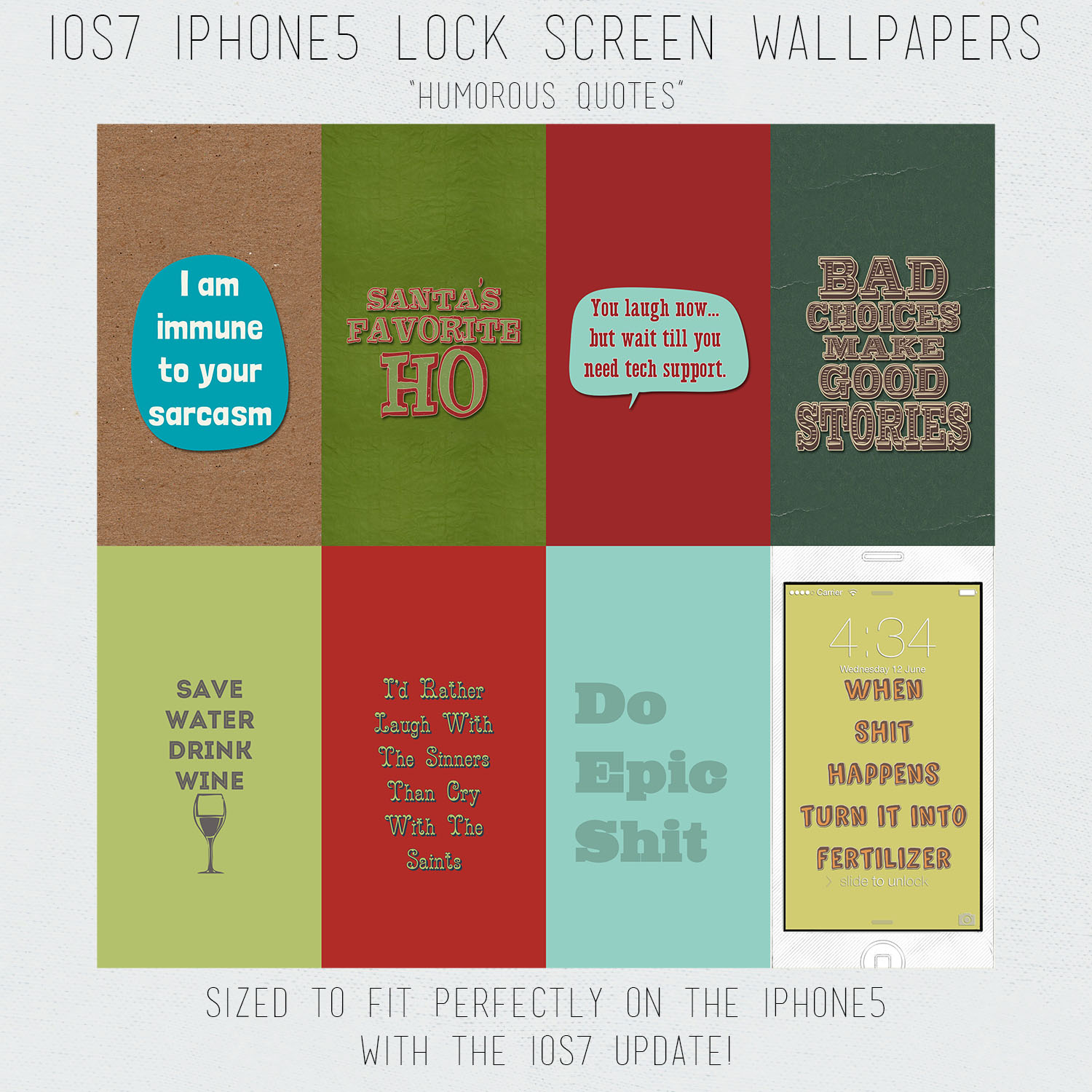 ios7 iphone 5 lock screen wallpaper quotes by